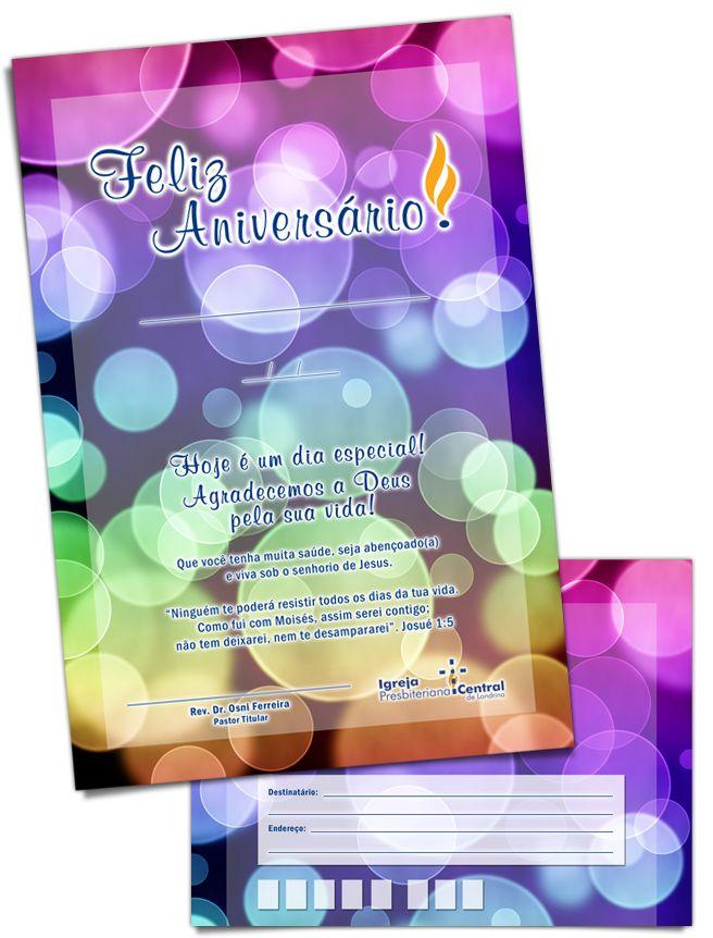 Aerograma de aniversário para membros    Igreja Presbiteriana Central de Londrina    2010 • Londrina/PR