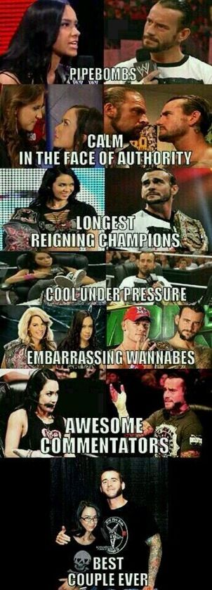 Punk and Lee. AJ is up there on my list and Punk was always right on top! Punk went and left the WWE. But I think that their gonna try to get him back bcuz he was a very cool and funny wrestler.