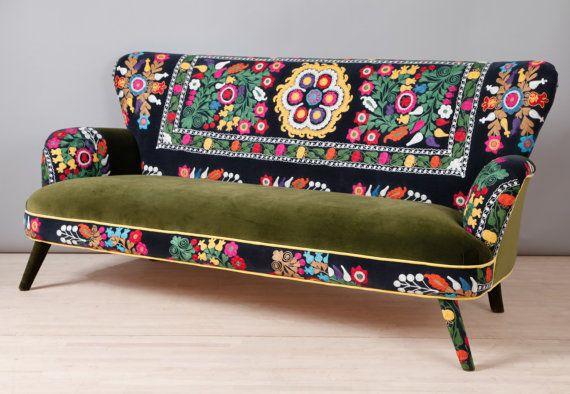 Suzani 3 seater sofa - Spring