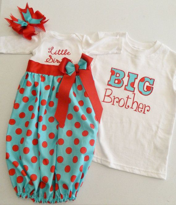 Hey, I found this really awesome Etsy listing at http://www.etsy.com/listing/160367904/newborn-gown-brother-sister-matching