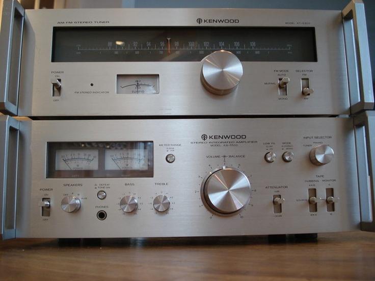 vintage stereo ampli ka 5500 et tuner kt 5300 kenwood 110. Black Bedroom Furniture Sets. Home Design Ideas