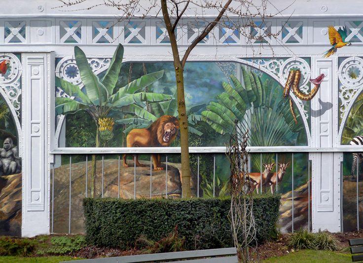 Street Art- Fresques murales - A-Fresco -  Le Zoo de Levallois Perret - Le Mur (en 4 parties) APRES