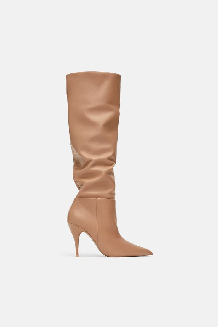 Image 2 of SOFT LEATHER HIGH HEELED BOOTS from Zara ...