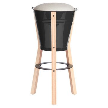 Bucket Bar Stool Black Design Inspirations