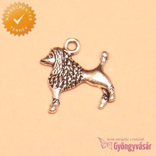 Ezüstszínű uszkár - nikkelmentes fém zsuzsu / fityegő • Gyöngyvásár.hu