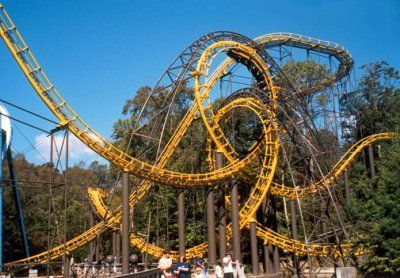 Loch Ness Monster coaster at Busch Gardens in VAwow What a