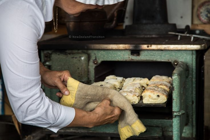 freshly baked scone at The Great Manawatu Steam Fair