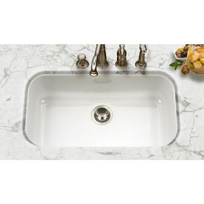 Kitchen Sinks Remodeling Houzer Porcela Undermount Porcelain Enamel Steel Pcg 3600wh White Kitchen Sink Complete Your Kitchen With This Rectangl Sink