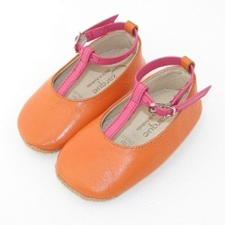 Loving our orange and hot pink baby shoes...