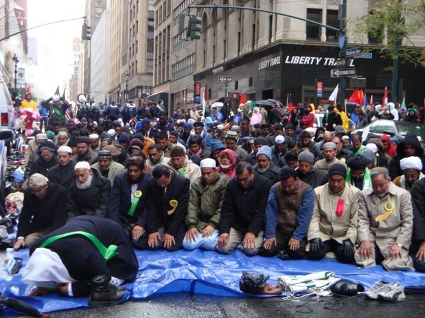 OUR Nation cannot put up a Christmas scene of the baby Jesus in a public place, but the Muslims can stop normal traffic every Friday afternoon by worshipping in Times Square. Those who have eyes to see, let them see. Those who have ears to hear, let them hear. God will judge!!!