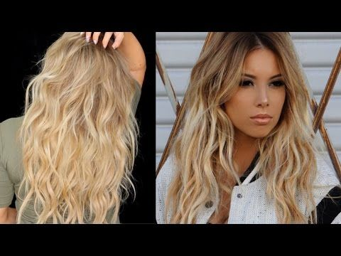 BIG Sexy Messy Waves Tutorial with extensions | LustreLux - YouTube