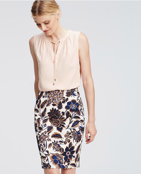 Ann Taylor's Tie Neck Shell is the perfect base for every work outfit.