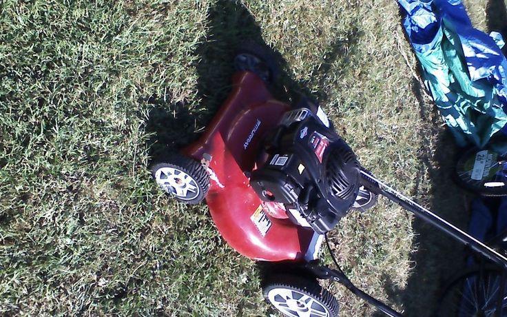 Gas-Powered Walk Behind Push Lawn Mower 20 Inch Garden Yard Walk Murray Cutter #Murray