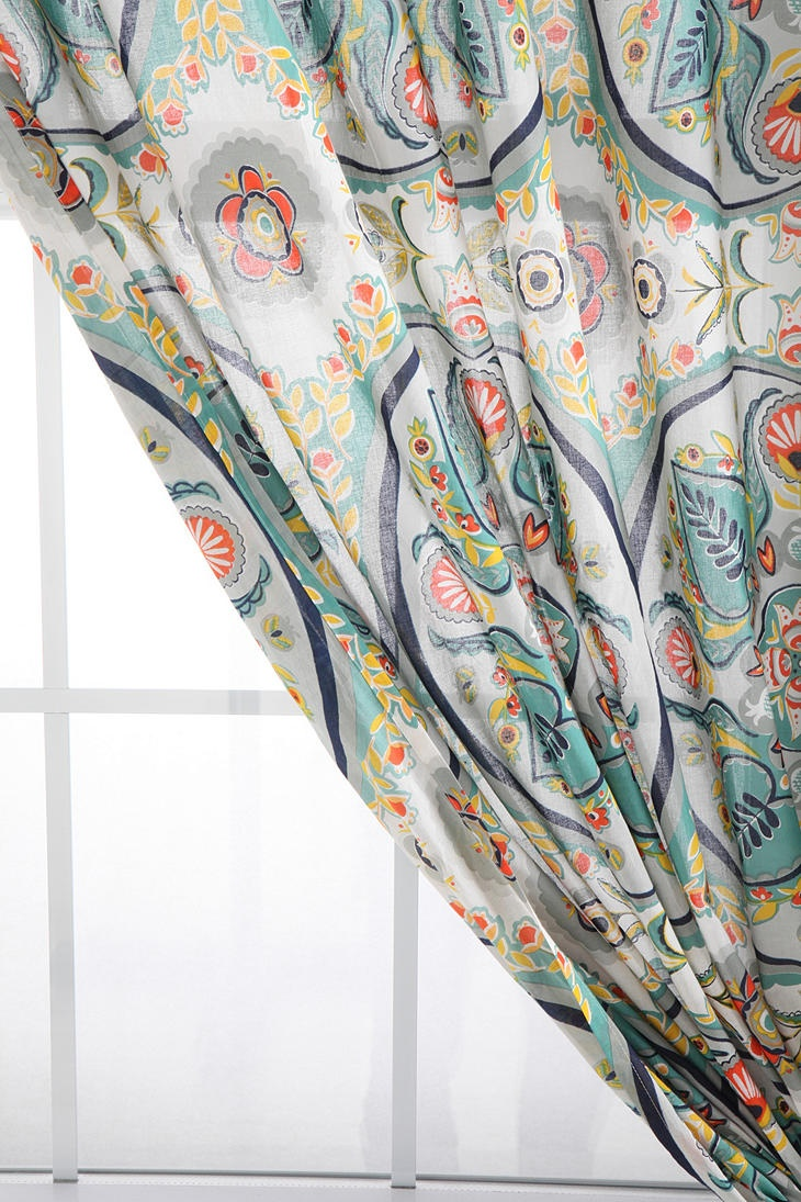 Painted Medallions Curtain