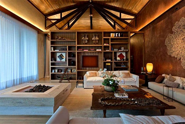 Luxurious Casa Nova Lima with Dramatic Landscape Compositions casa nova lima beautiful wooden cladding