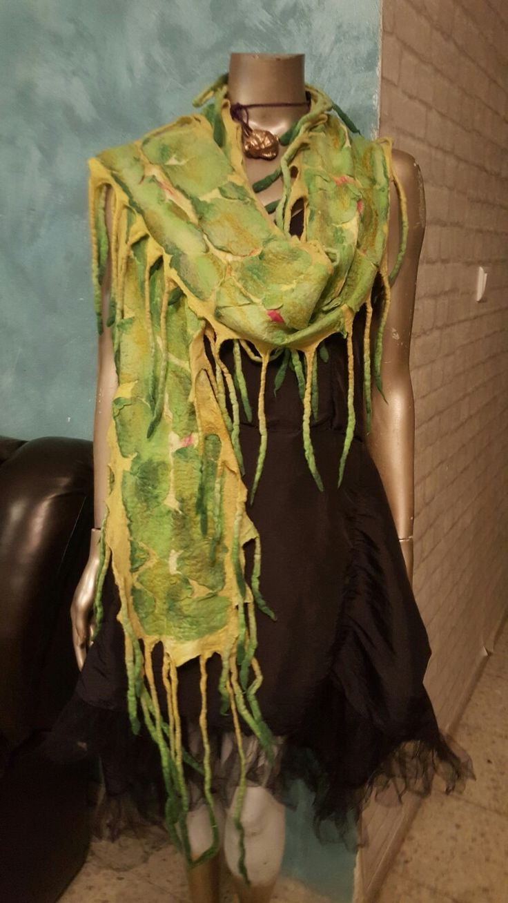 New wet felted scarf.ZaborkaArt.