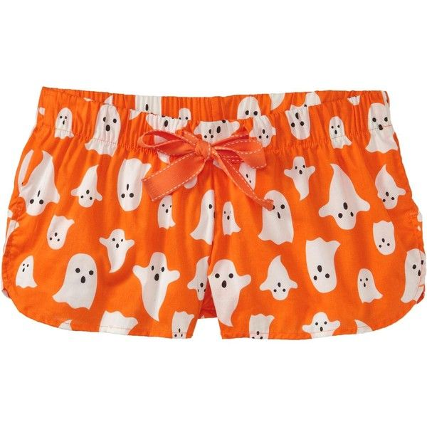 Old Navy Womens Halloween Lounge Shorts 3 ($3.99) ❤ liked on Polyvore featuring intimates, sleepwear, pajamas, bottoms, shorts, under, old navy, old navy pajamas, old navy sleepwear and old navy pjs