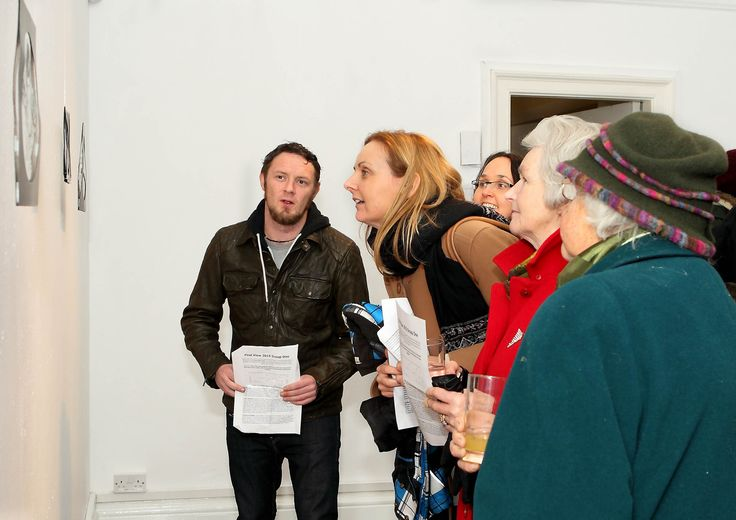 Taking a closer look at the art on display at First View in Garter Lane Arts Centre. - www.noelbrownephotographer.com