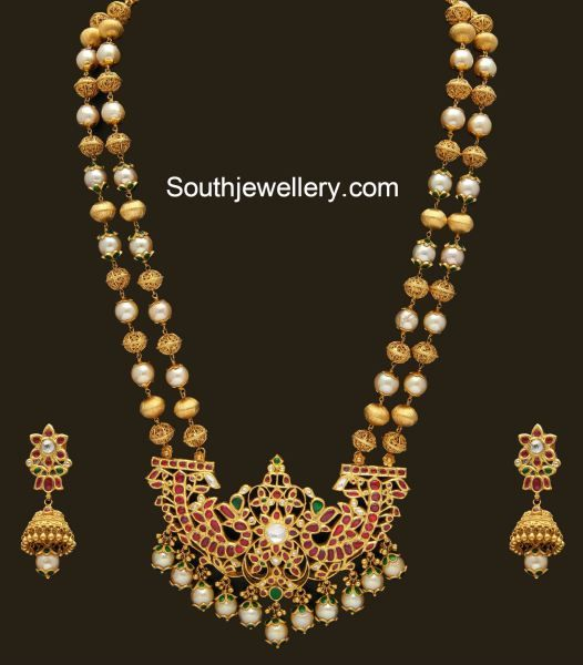 Gold Pearl Haram set