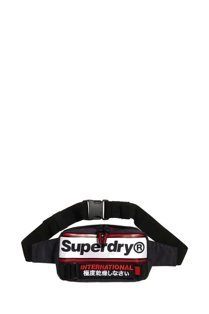 OFA Black Superdry Mens Multi International Bum Bag