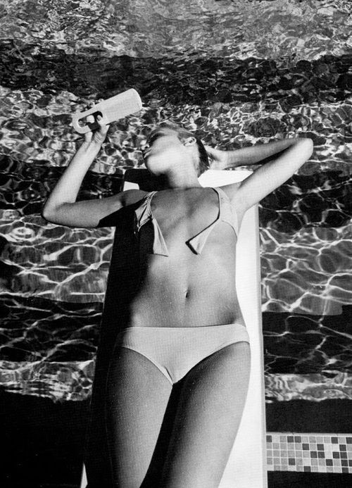 Jerry Hall photographed by Helmut Newton