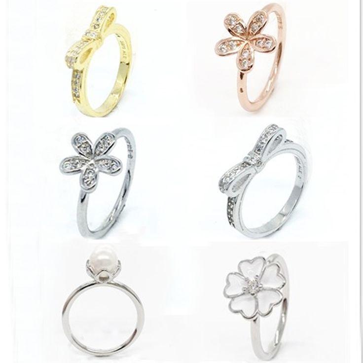 S925 Sterling Zilveren Bloemen Ringen Dazzling Daisy Meadow Stapelbaar Ring, Clear CZ Voor Vrouwen Bruiloft Sieraden Ringen