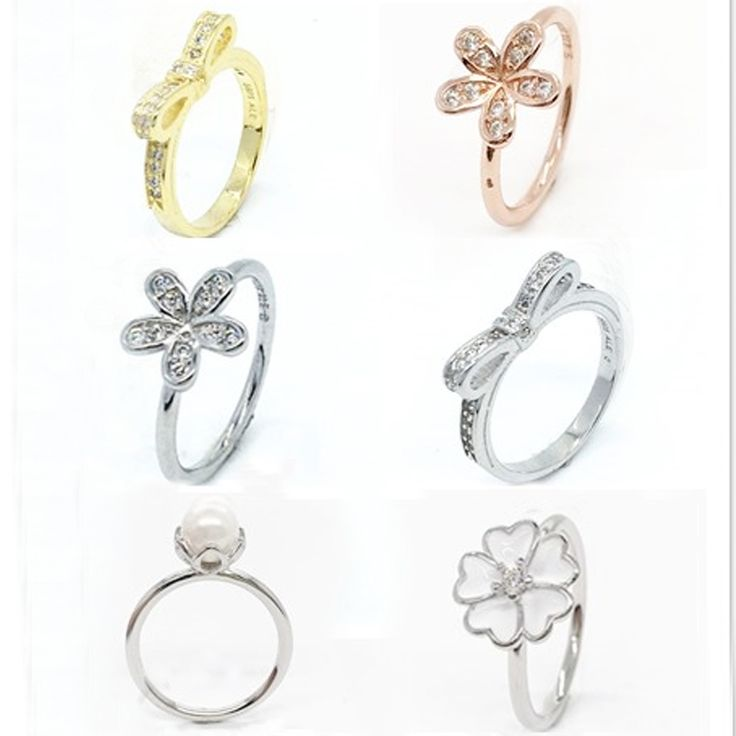 S925 Sterling Silver Flowers Finger Rings Dazzling Daisy Meadow Stackable Ring, Clear CZ For Women Wedding Party Jewelry Rings