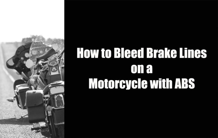 This workshop will teach you how to bleed the brake lines on a motorcycle that has an anti-lock brake system. The procedure for ABS is quite different than none ABS. Both should be performed every 2 years.