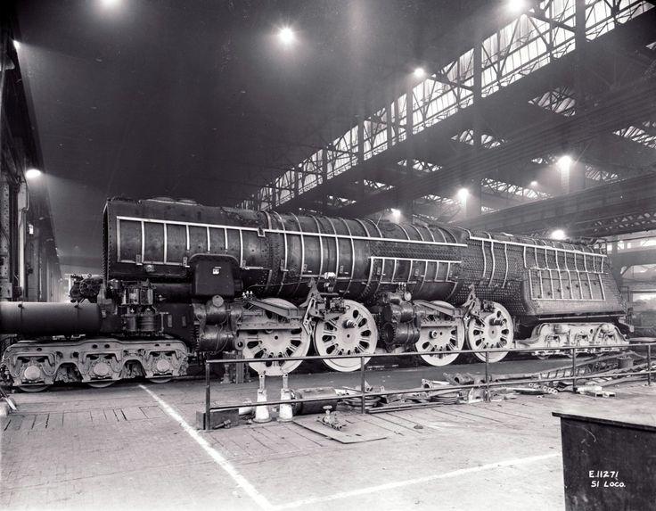 The Pennsylvania Railroad S-1 locomotive #6100, fully nude ...