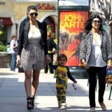 Kim Kardashian grabs brunch at Marmalade Cafe with her mom Kris Jenner, sister Kourtney and Kourtney's son Mason. The family went to church and later got some retail therapy in at the Calabasas Commons after their brunch on March 11, 2012