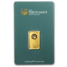 .9999+ Gold Bar - Perth Mint, 5 grams