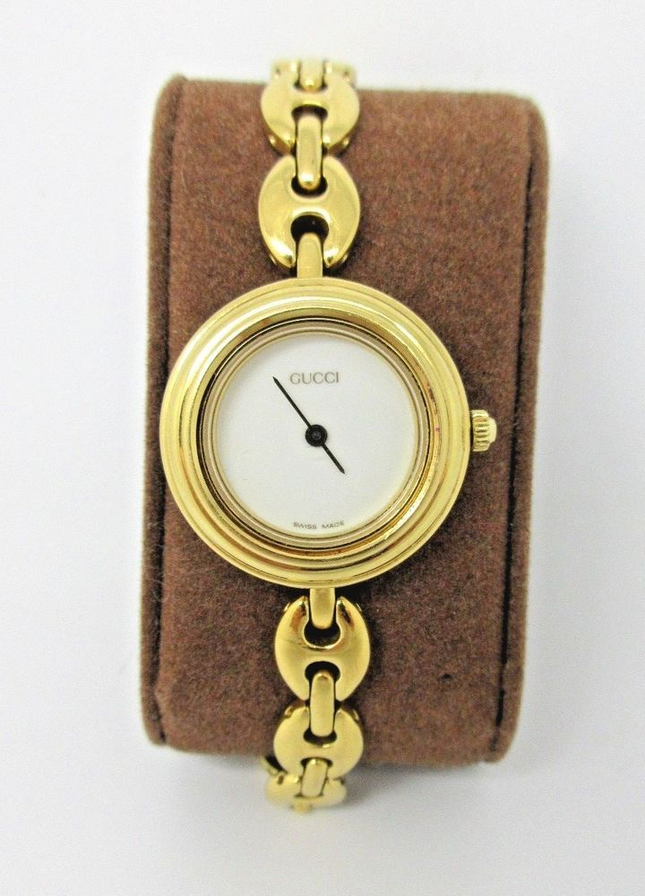 18e16383c1b Ladies Authentic GUCCI Gold Plated Watch - 11 12.2 - White Dial  Gucci