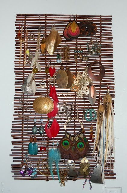 Earring Storage from a placemat