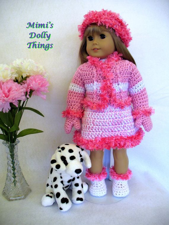 American girl skating outfit with pink fringe by MimisDollyThings, $30.00