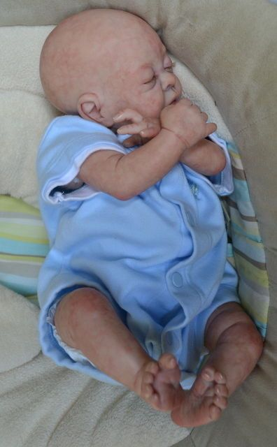 OOAK Reborn baby boy with 3d skin Jaden  baby Newborn doll