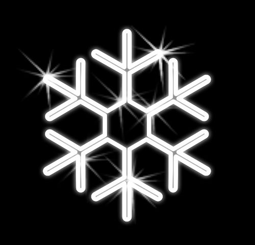 Snehová vločka vianočná - 2D - 500mm - OVL 03-L
