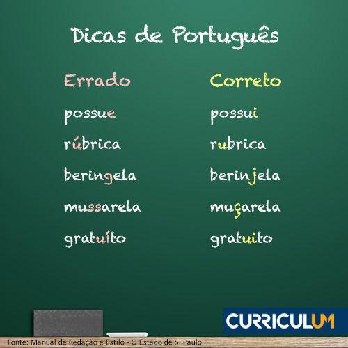 Deixe nossos especialistas revisar o português do seu currículo! Conte sempre com nossa Revisão ou Análise de Currículo. Conheça AQUI  #DicasCurriculum