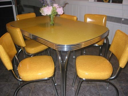 Wide Seat Chromcraft Kitchen Chairs