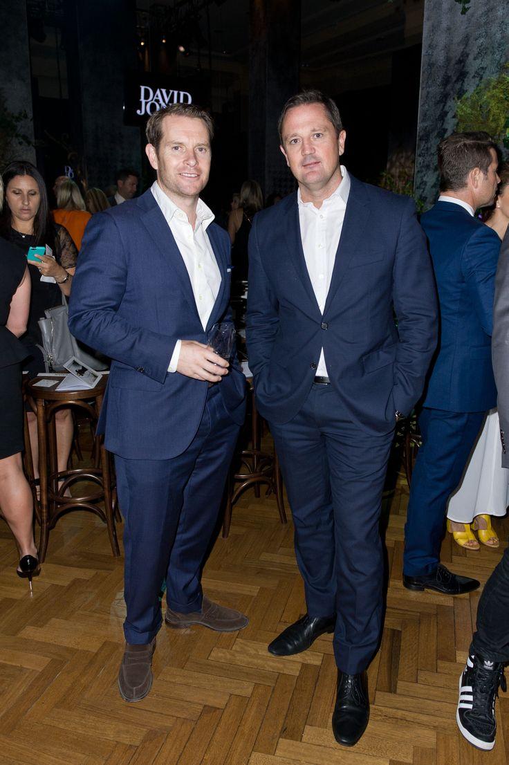 M.J. Bale Founder & Paul Bradbury, CEO of award winning agency TBWA, both dressed in M.J. Bale   © Esteban La Tessa - La Tessa Photography