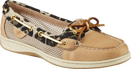 Sperry TopSider Womens Angelfish LeopardLinen LeatherUS 65 W *** More info could be found at the image url.