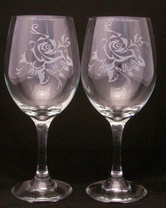 Etched Wine Glasses Wedding Gifts : Etched Wine Glasses Valentine wine glasses, valentine gift, wedding ...