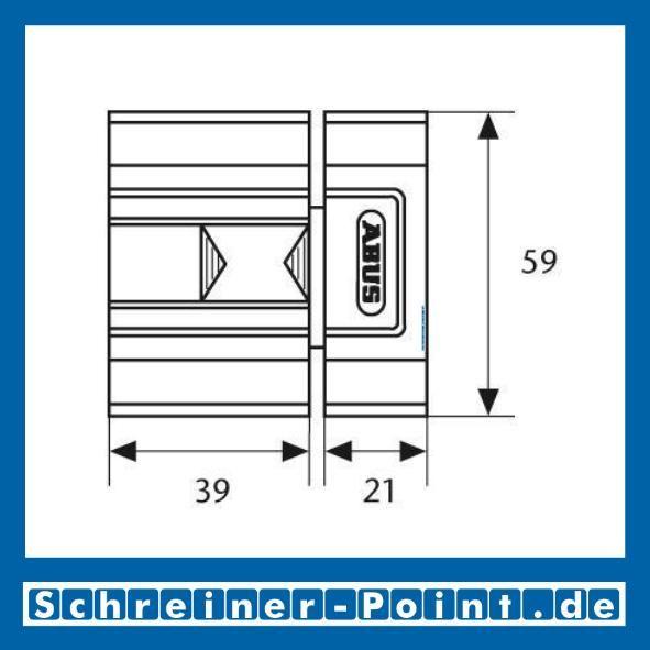 ABUS SR30 braun Schieberiegel für Innentüren, 117756, 117763, EAN 4003318117756, 4003318117763