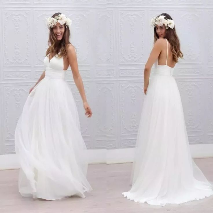 Discount 2017 Beach Summer Boho Wedding Dresses Sexy Backless Spaghetti Straps Floor Length Wedding Bridal Gowns Bohemian Formal Dresses For Wedding Brides Wedding Dresses Empire Line Wedding Dresses From Wholesalefactory, $108.95| Dhgate.Com #bohoweddingdress