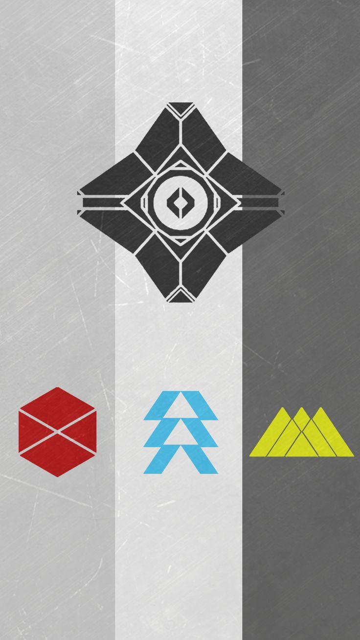 Destiny 2 Fan Art All Classes (iPhone Wallpaper)