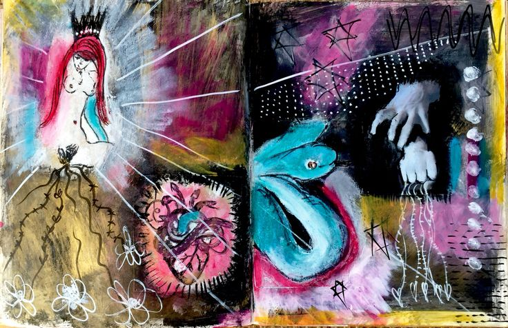Coming to realise Glenda was right ........ I had the power all along Intuitive art journaling Ruby Jude Artist