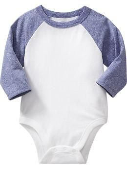 Raglan-Sleeve Bodysuits for Baby
