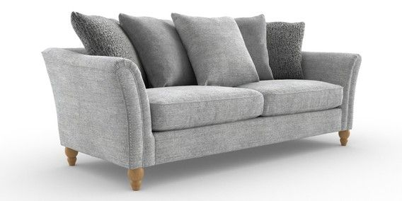 Buy Lanston Casual Scatter Back Large Sofa 3 Seats Shimmer Combo Silver Low Turned Light From The Next Uk Onli Large Sofa Unwanted Furniture Free Furniture