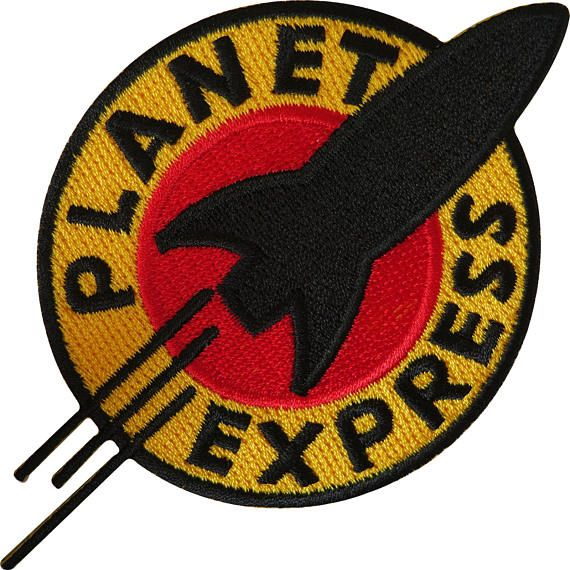 Futurama Planet Express Iron On Sew On Embroidered Patch T Shirt Bag Jeans Badge Size 10.5 cm width and 7.5 cm height. How to Iron on a Patch Lay your cloth on a flat, heat-resistant surface like an ironing board. To ensure the item will provide a good surface for the patch, iron it