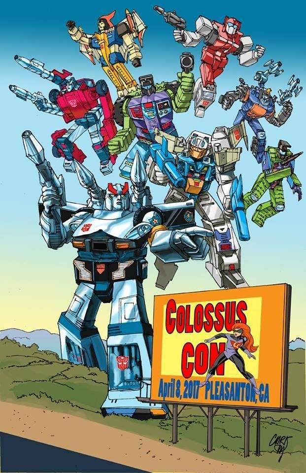 #ColossonCon in Pleasanton, Calif. April 8th at the fairgrounds: be there, I will! #ComicCon #MakeComics #IndieComics #Transformers  @colossus_con @campbell_con