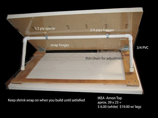 PVC PASSO A PASSO: Mesa para desenho - Ajustável